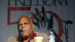 """In this June 26, 2014, file photo, Robert """"Bob"""" Moses, Student Nonviolent Coordinating Committee project director in 1964, discusses the importance of Freedom Summer 1964 during the 50th anniversary conference at Tougaloo College in Jackson, Miss.  Moses died Sunday in Hollywood, Fla. He was 86."""