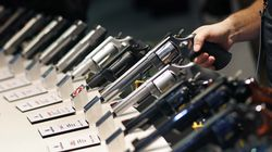 Handguns were displayed at a trade show in Las Vegas. In its suit against US gun manufacturers and distributors, the Mexican government is arguing that their commercial practices have unleashed tremendous bloodshed in Mexico.
