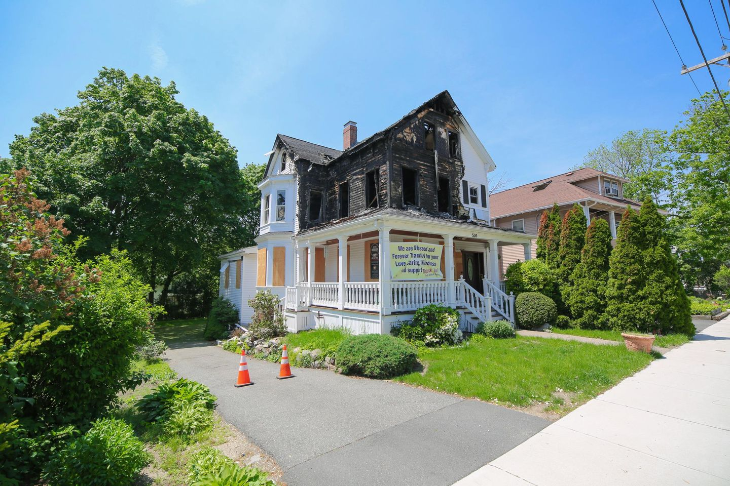 For Sale In Melrose An Uninhabitable Fire Ravaged Home