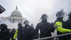 Police guarded the Capitol on Jan. 6.