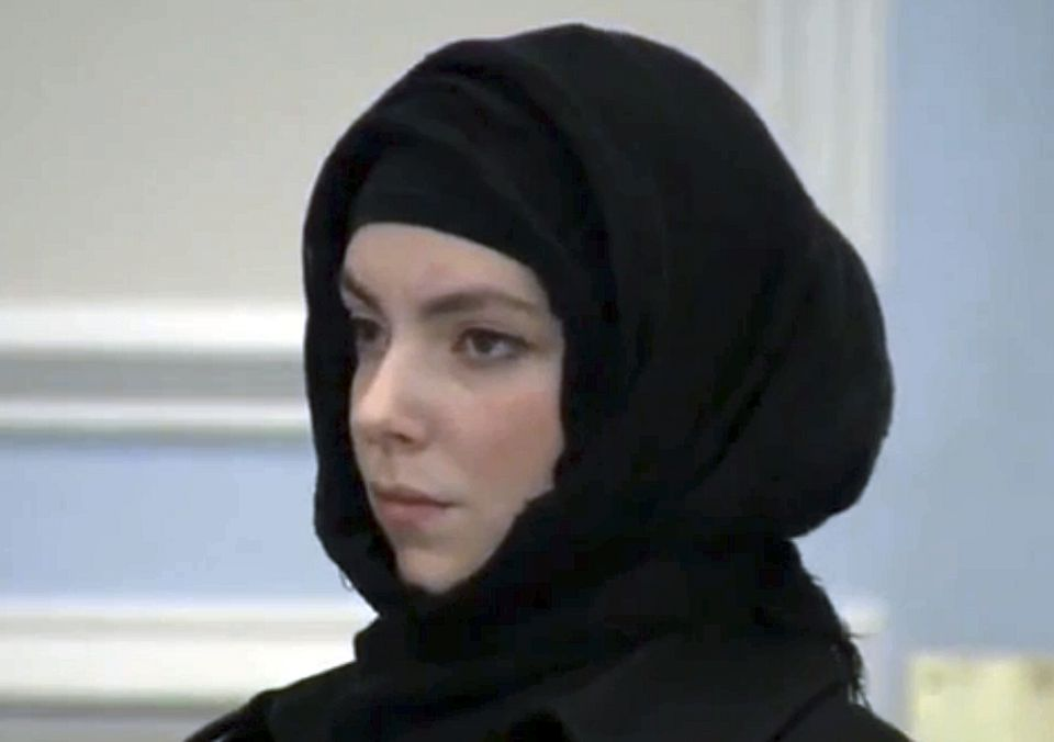 Katherine Russell, widow of deceased Boston Marathon bomber Tamerlan Tsarnaev, at a January 2013 court hearing.