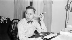 """Tennessee Williams at his typewriter in New York in 1940, the year his first produced play, """"Battle of Angels,"""" was heavily censored in Boston."""
