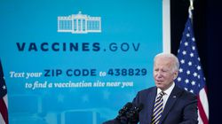 U.S. President Joe Biden speaks in the Eisenhower Executive Office Building in Washington, D.C., U.S., on Thursday, Oct. 14, 2021. Biden laid out next steps in the U.S. vaccination effort as employer mandates and booster shots support a fading campaign to get more people inoculated.