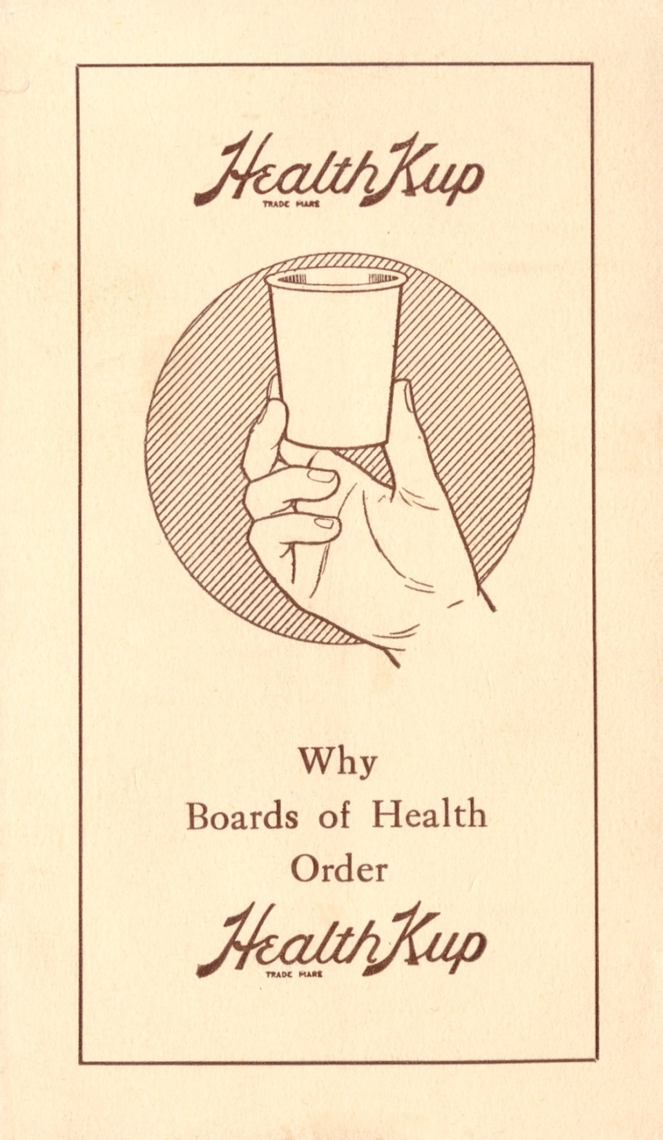 "The original Dixie Cups were called ""Health Kups."""