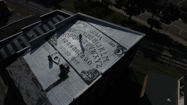 Blair Murphy's rooftop Ouija board.