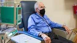 Henry Magendantz, a patient in the Biogen aducanumab trial, after an infusion in Providence.
