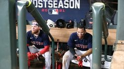 Alex Verdugo and Rafael Devers soak in Houston's Game 6 victory on Friday night, ending the Red Sox season two wins shy of the World Series.