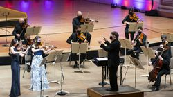 Conductor Keith Lockhart and the Boston Pops rehearse their Mother's Day celebration, which will include a performance by Pops violinist Ala Jojatu and her 16-year-old daughter, Maria.