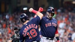 J.D. Martinez (right) and the Red Sox know that when their approach is right, the results will follow.
