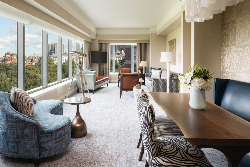 """""""Stunning"""" is how several recent guests described the Parkview Suite at the Ritz-Carlton, Boston Common."""