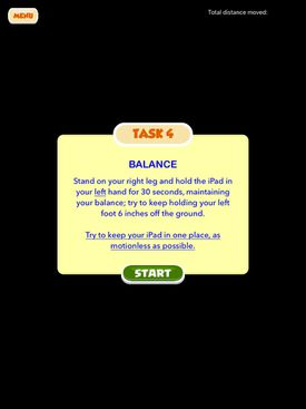 A balance test is one task on the app for drivers.