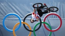 Charlotte Worthington of Team Great Britain competes in the during the Women's Park Final of the BMX Freestyle.