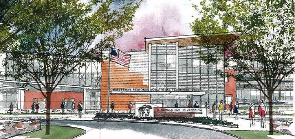 A rendering of the proposed new Minuteman High School.
