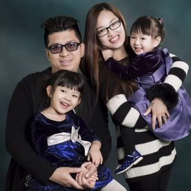 Clockwise from top left: Steven Wu, Jennifer Huang, Isabella Wu and Annabella Wu. Isabella was struck by an ambulance and killed outside the family's apartment building on Saturday.