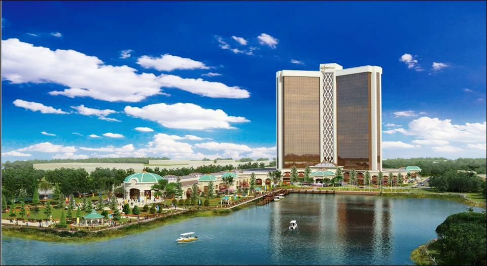 A rendering of the Wynn casino proposed in Everett.