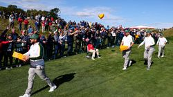 Team Europe endeared themselves to the Wisconsin crowd by wearing Packers' colors and throwing cheesehead hats to the crowd.