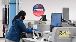 Ballots were counted at the tallying center in Downey, California.