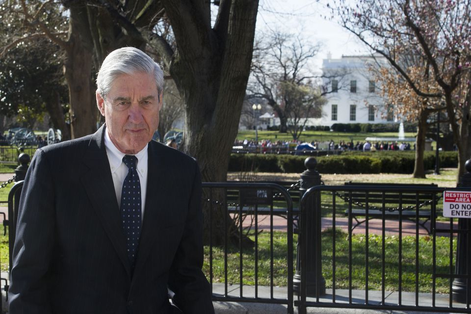 Robert Mueller walked past the White House on March 24.