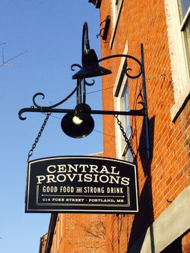 Central Provisions' street sign.