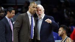 Ime Udoka (left) is part of the Gregg Popovich coaching tree.