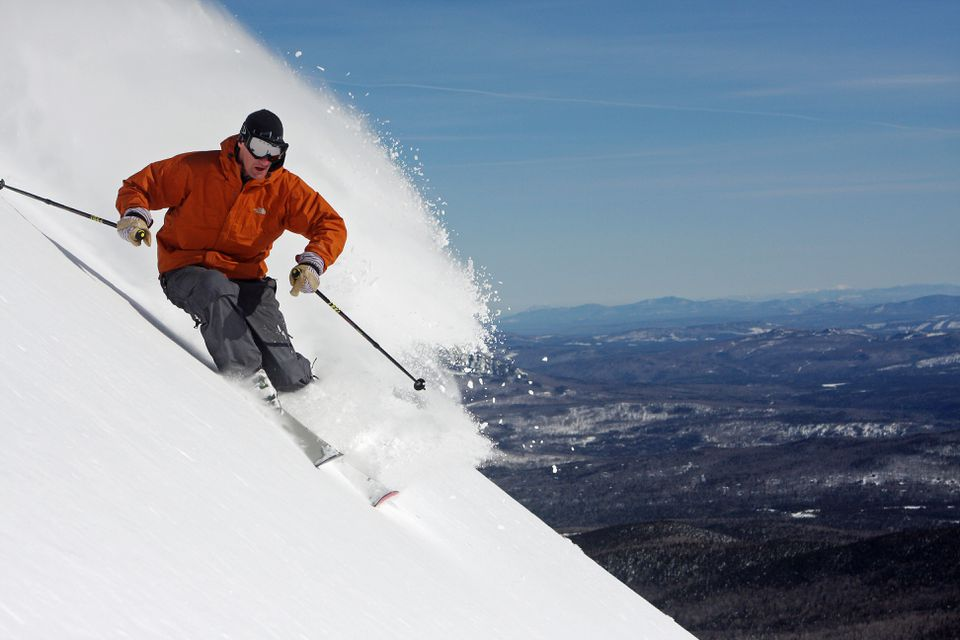 Sugarloaf has 2,820 vertical feet, the second- steepest in New England.