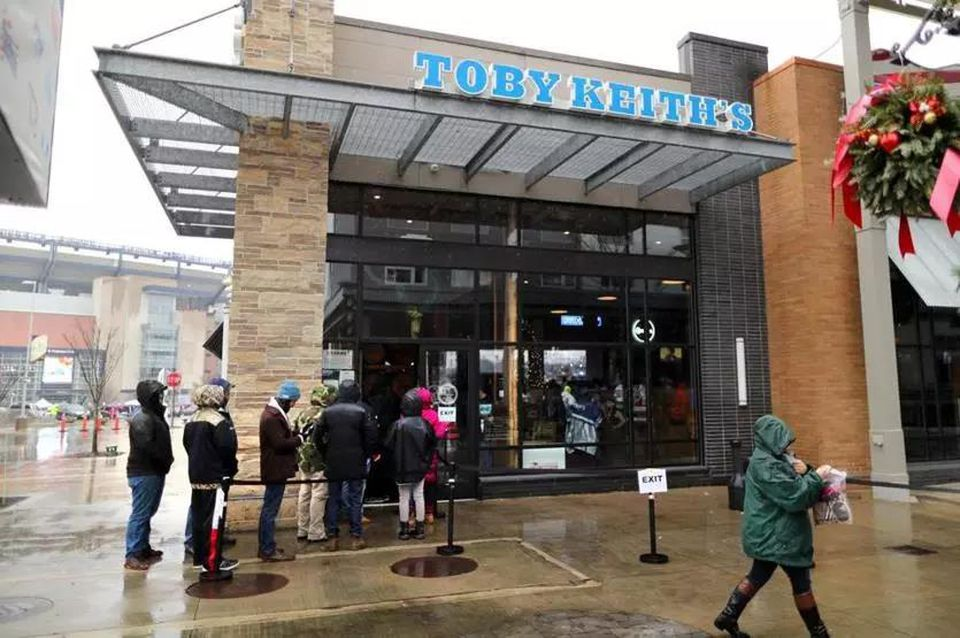 Toby Keith's I Love This Bar & Grill in Foxborough.