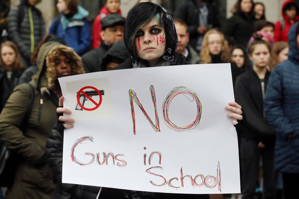 Cambridge Rindge and Latin School sophomore Kayden Conelly joined hundreds of students who walked out of class earlier this month to protest gun violence in schools and demand new gun control laws.