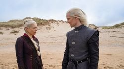 "Emma D'Arcy as Princess Rhaenyra Targaryen and Matt Smith as Prince Daemon Targaryen in the first images from the upcoming HBO series, ""House of the Dragon."""