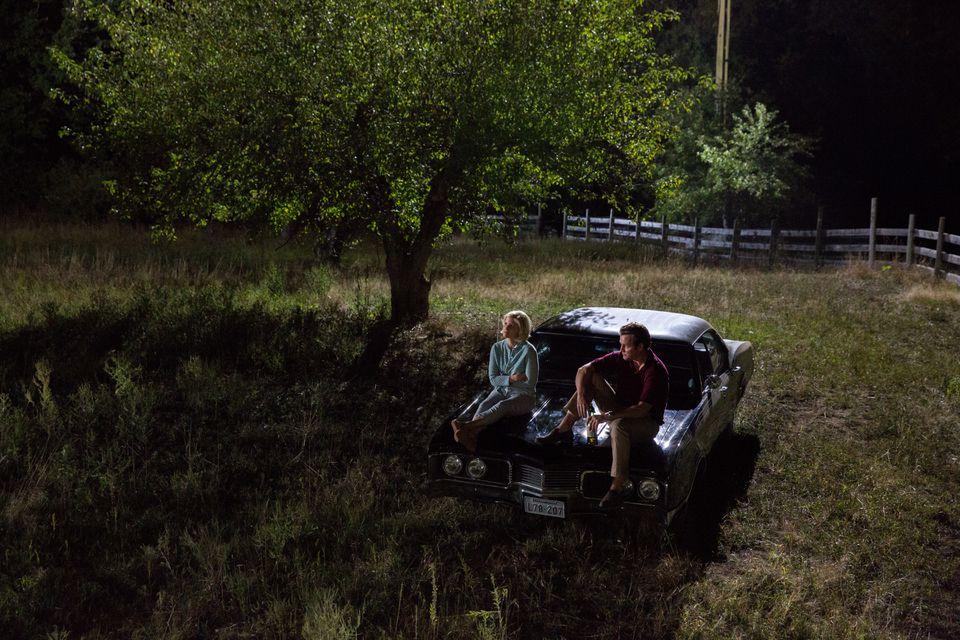 "Kate Mara stars as Mary Jo Kopechne and Jason Clarke as Ted Kennedy in the 2017 film ""Chappaquiddick."""