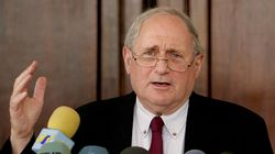 U.S. Senator Carl Levin, the Senate Armed Services Committee's senior Democrat, speaks to the press after meeting with Iraqi President Jalal Talabani at the heavily-fortified Green Zone in Baghdad  06 July  2005. Levin said a plan was needed to hand more authority to Iraqi forces and draw down US troops, as a purported message from Al-Qaeda frontman Abu Musab al-Zarqawi vowed more attacks on Iraq's majority Shiites.       AFP PHOTO/POOL/KHALID MOHAMMED (Photo by - / POOL / AFP) (Photo by -/POOL/AFP via Getty Images)