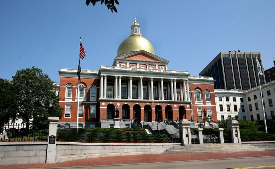 The Massachusetts State House.
