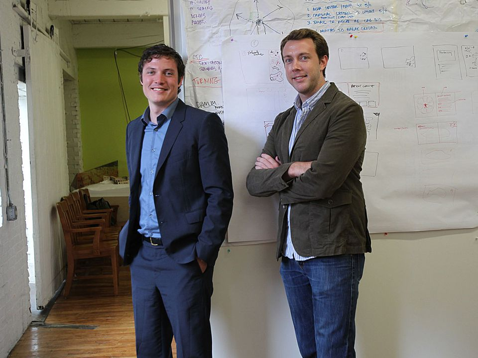 MASS Design Group's Michael Murphy (left) and Alan Ricks.