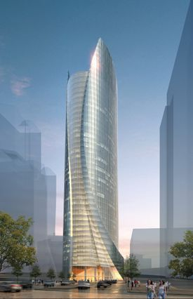 Those who complain Boston's architecture is boring may find relief in the One Congress Residential Tower.