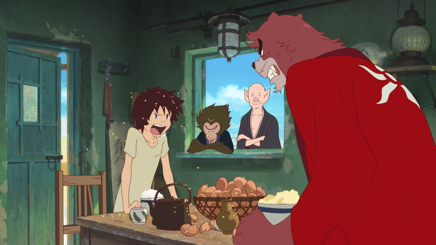Suspended Anime In The Boy And The Beast The Boston Globe