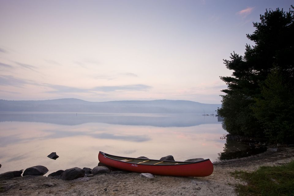 The calm of early morning at Lake Sunapee.