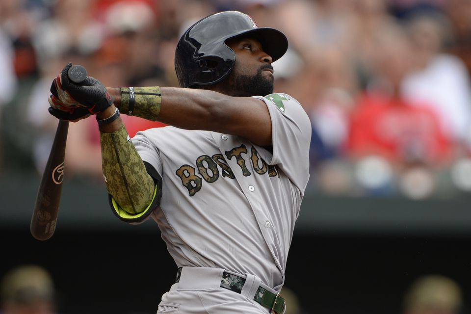 Jackie Bradley Jr. hit a solo home run during the sixth inning against the Orioles Monday.