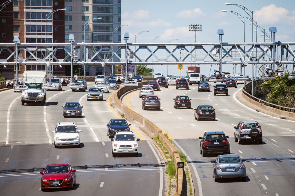 Connecticut lawmakers could debate reinstating tolls on the state's highway, using something like the All Electronic Tolling gantries found on the Mass. Pike.