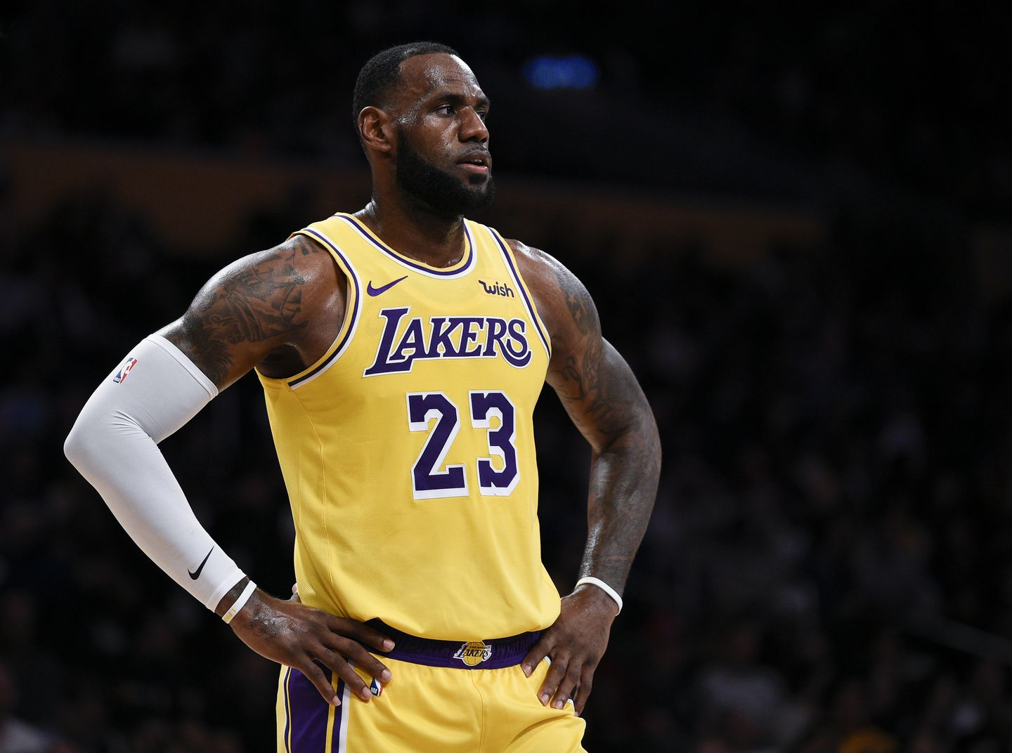27941f52db3 The NBA season has a new look with LeBron James in a Lakers uniform.