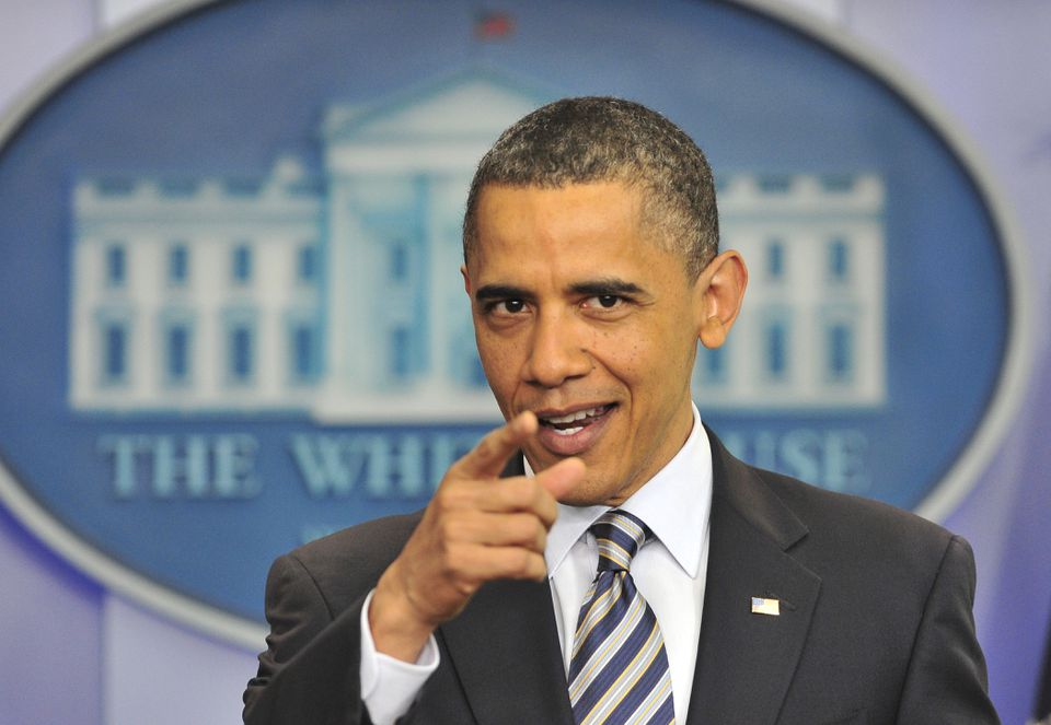US President Barack Obama made a statement on his birth certificate at the White House in Washington, DC, on April 27, 2011.