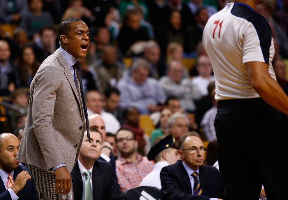 "Rajon Rondo, shown here on the bench during a Dec. 11 game against the Clippers, said he's ""pretty close"" to returning to action."