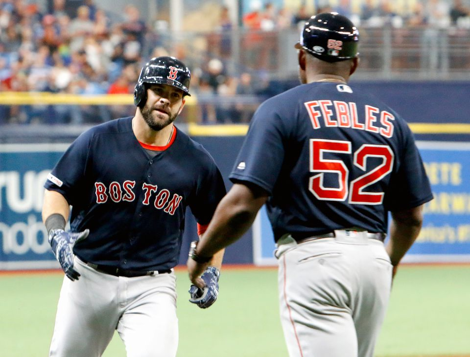 Mitch Moreland had the second half of Boston's back-to-back solo homers during the eighth inning on Friday, the difference in the Red Sox victory against the East-leading Rays.