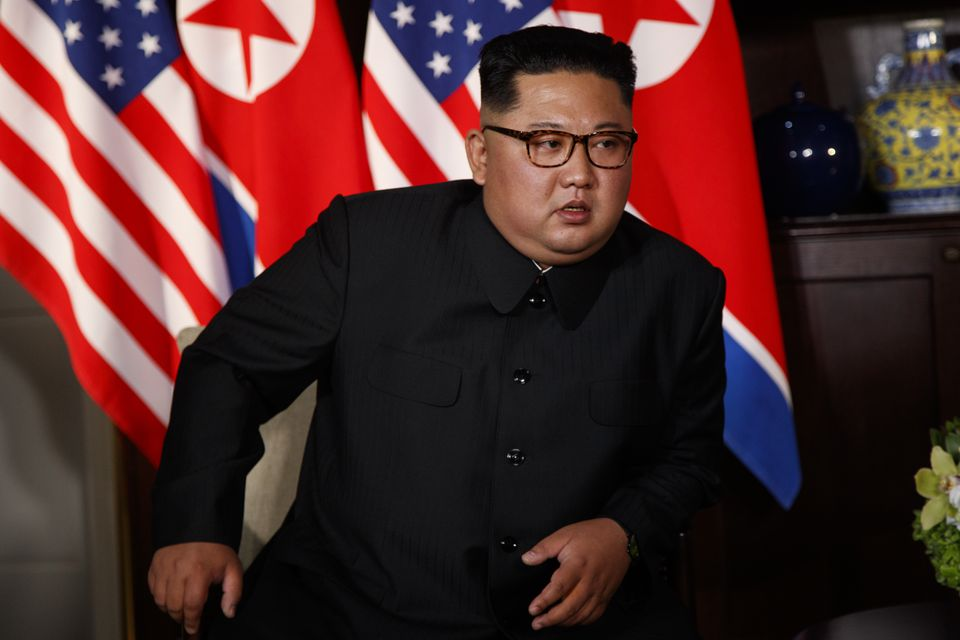 North Korean leader Kim Jong Un during his meeting with President Trump in Singapore on Tuesday.