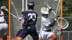 Lincoln Sudbury's Henry Grosso (33) beats Acton-Boxborough goalie Ryan Skripps on this second-quarter tally in Monday's 9-5 victory in the D1 North quarterfinals.