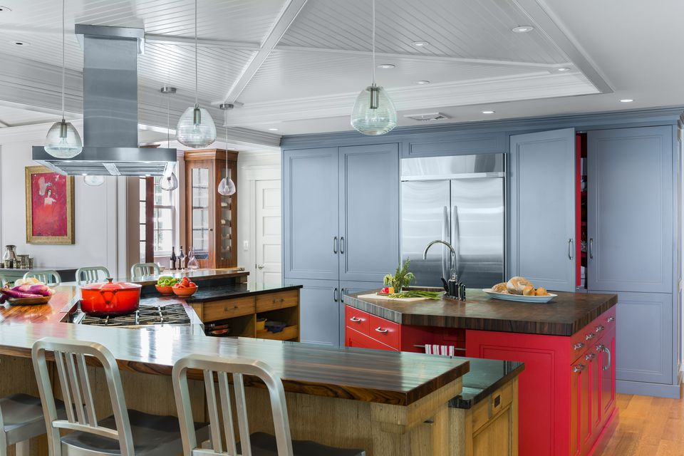 The new kitchen includes rosewood-topped islands, with plenty of room for cooking classes which are held in the house.