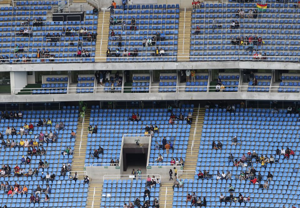 Empty seats — even for marquee events — are a common sight at Rio venues.