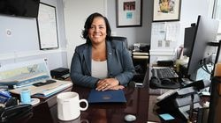 Suffolk District Attorney Rachael Rollins, photographed in her office.