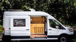 A custom job done by Nirvana Upfitters, a Leominster-based van conversion company.