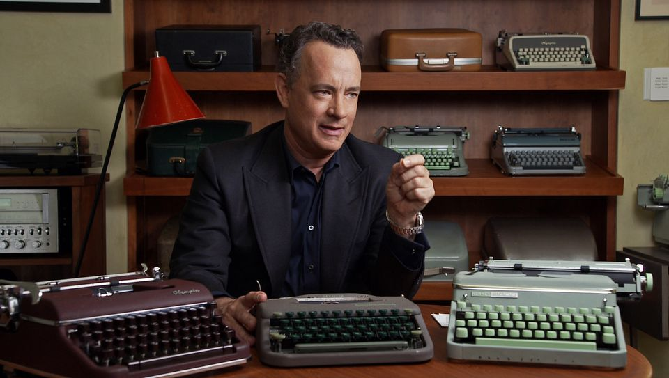"""Tom Hanks talks about his collection of 250 typewriters in a scene from the documentary """"California Typewriter."""""""