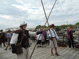 The New Plimmoth Gard reenacts 17th-century visit by pirates.