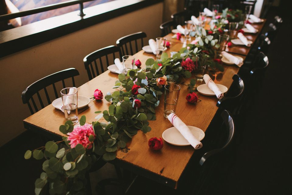 The Sinclair had never hosted a wedding. Fresh-cut flowers from Pollen Floral Design founder Krissy Price helped with the transformation.